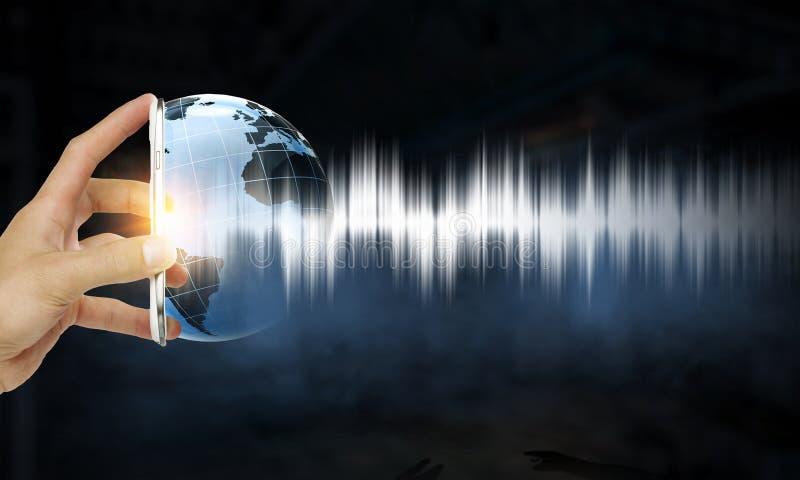 Teknologi av ljudet royaltyfria foton