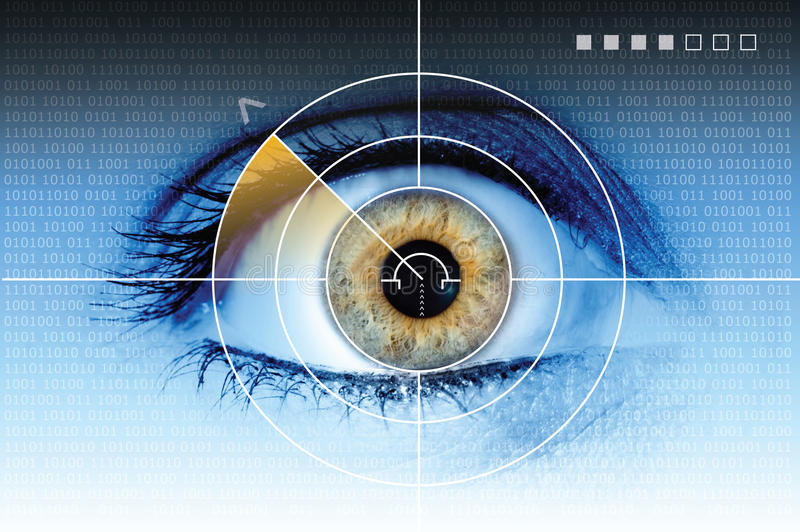 teknologi för ögonradarbildläsning royaltyfri illustrationer