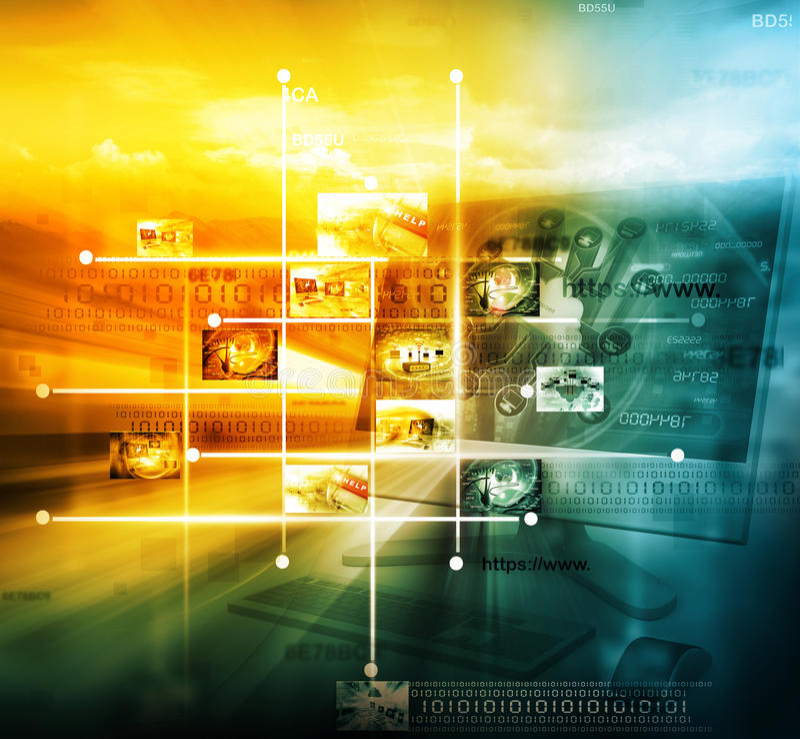 Teknologi för dataledning royaltyfria bilder