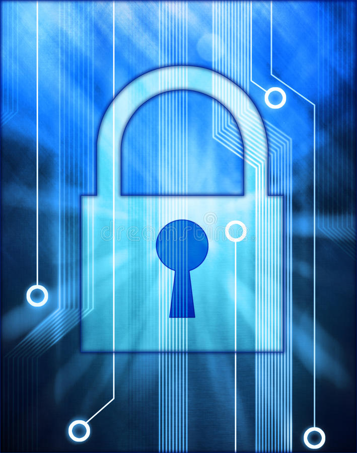 teknologi för datorlåssäkerhet stock illustrationer