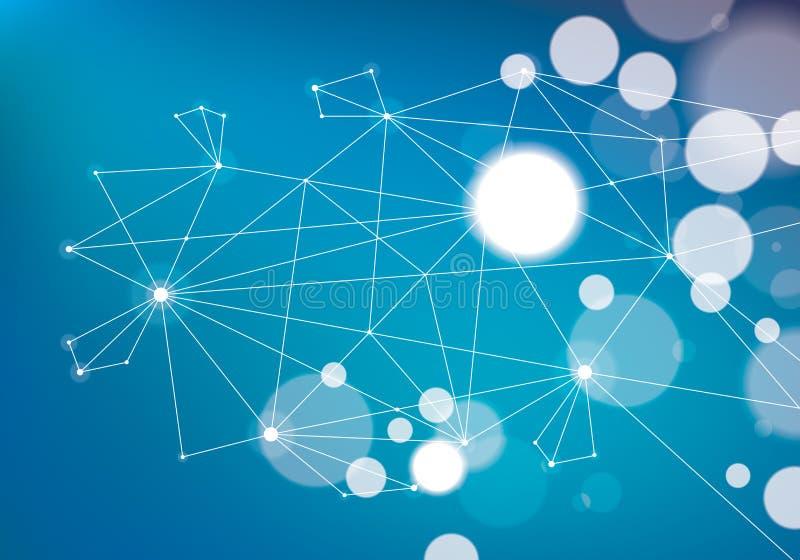 Teknologi a för ingrepp för kommunikation för anslutning 3d för Minimalism kaotisk vektor illustrationer