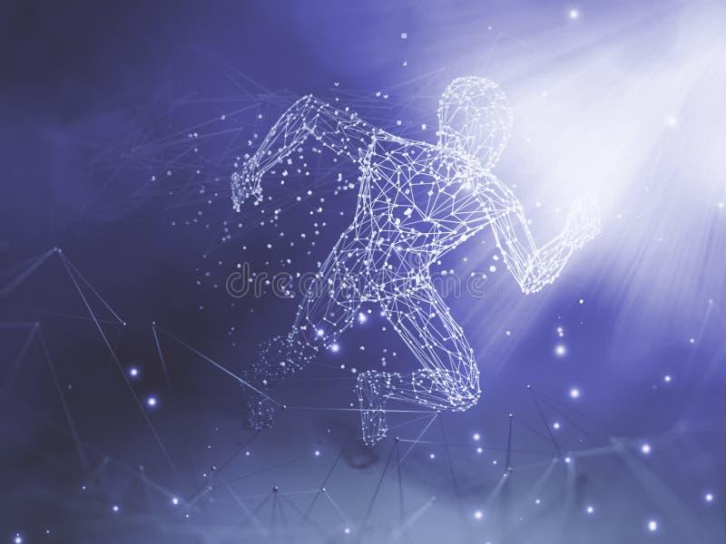 Teknologi för konstgjord intelligens royaltyfri illustrationer
