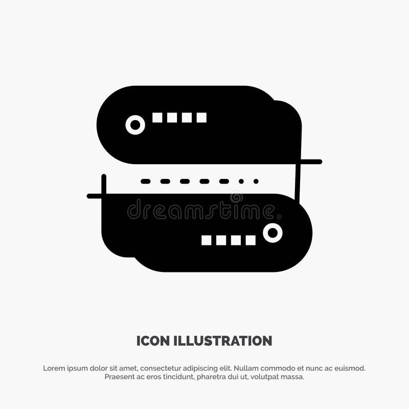 Teknologi för kvarterkedja, adress, nätverk, för skårasymbol för betalning fast vektor royaltyfri illustrationer