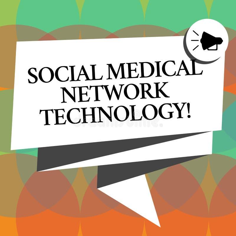 Teknologi för nätverk för ordhandstiltext social medicinsk Affärsidéen för online-modern knyta kontakt anslutning vek 3D stock illustrationer