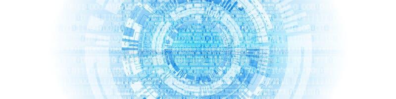 teknologi för planet för telefon för jord för binär kod för bakgrund dator för binär kod Vektor Illustratio vektor illustrationer