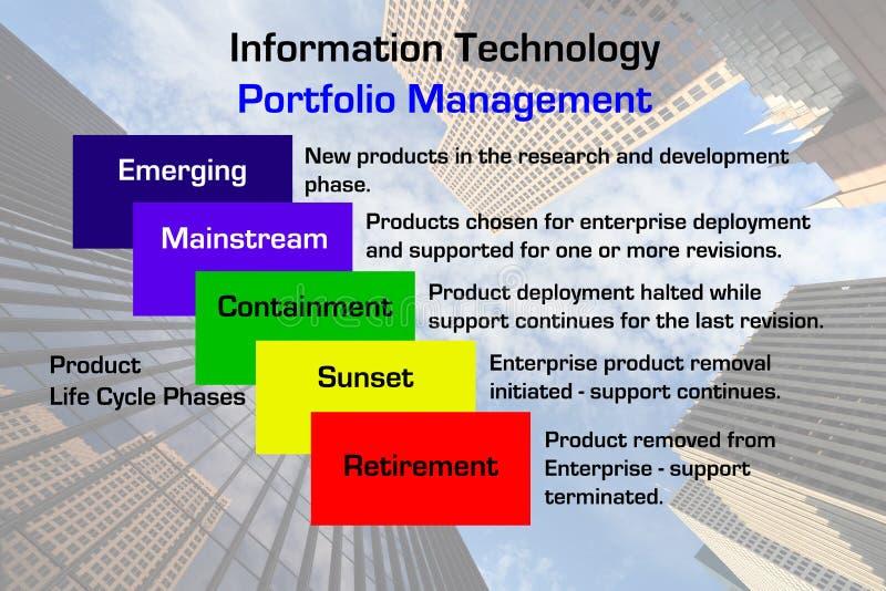 teknologi för portfölj för informationsadministration stock illustrationer