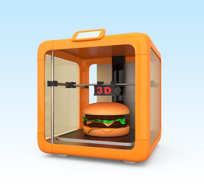 teknologi för printing 3D för livsmedelsindustri stock illustrationer