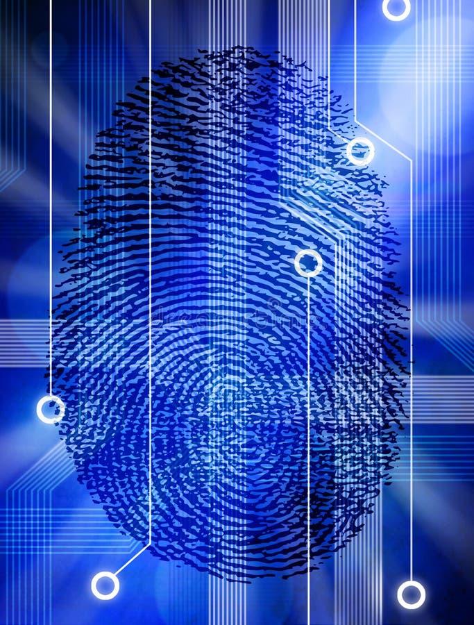 teknologi för säkerhet för datorfingeravtryckidentitet royaltyfri illustrationer
