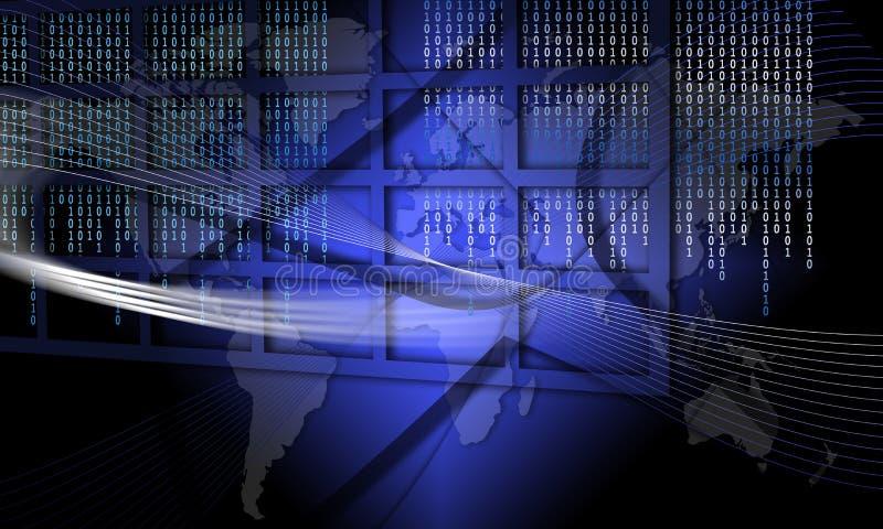 teknologi för stopp för global information om bedrägeri säker till stock illustrationer