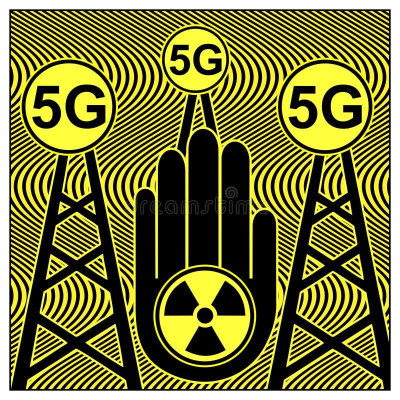 Teknologi för stopp 5G vektor illustrationer