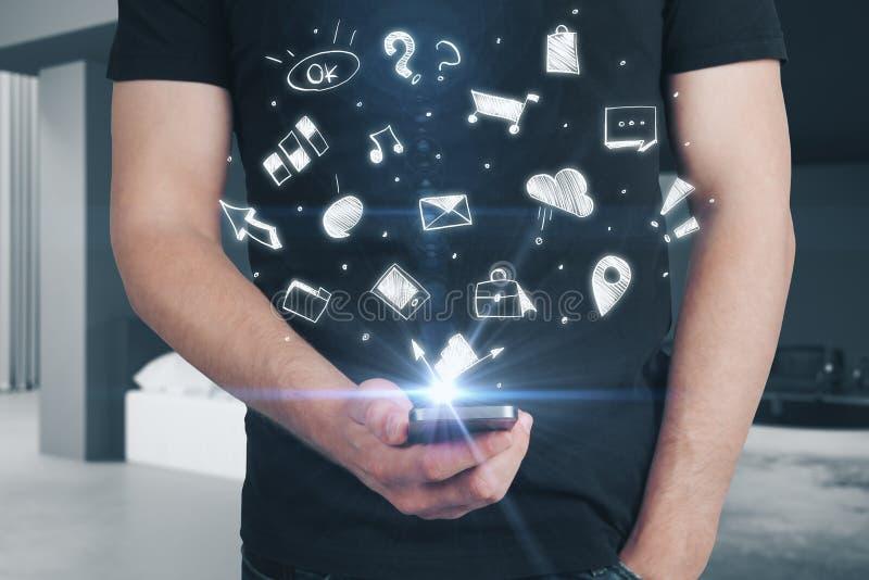Teknologi-, framgång- och finansbegrepp arkivfoto