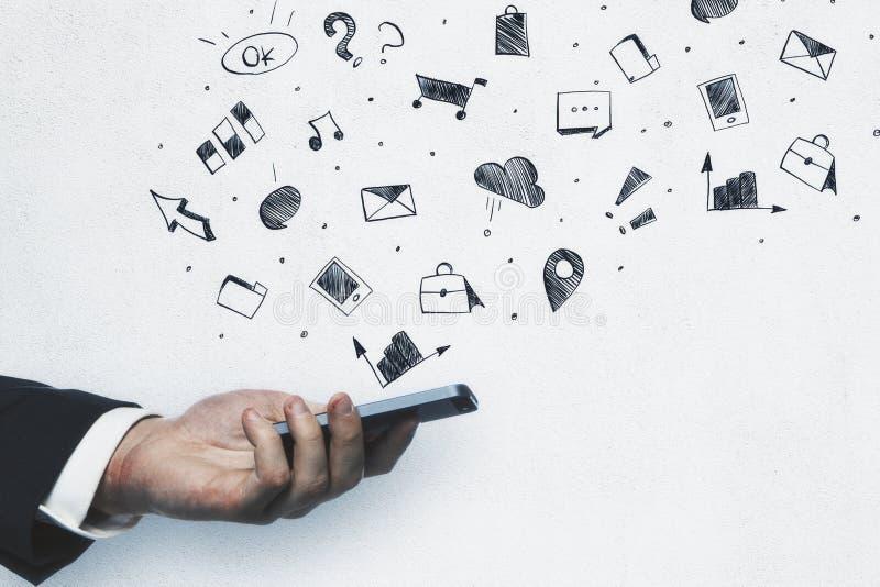 Teknologi-, framgång- och kommunikationsbegrepp fotografering för bildbyråer