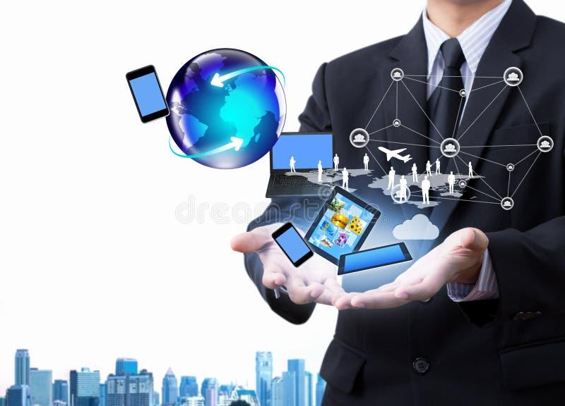 Teknologi i affärshand royaltyfri foto