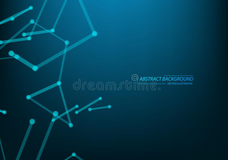Teknologi- och vetenskapsbakgrund Abstrakt reng?ringsduk och knutpunkter R?kning f?r aff?rsmallbaner optometriker f?r l?karunders vektor illustrationer