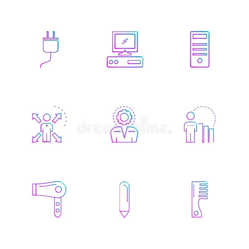 teknologi symboler, elektronik, eps-symboler ställde in vektorn stock illustrationer