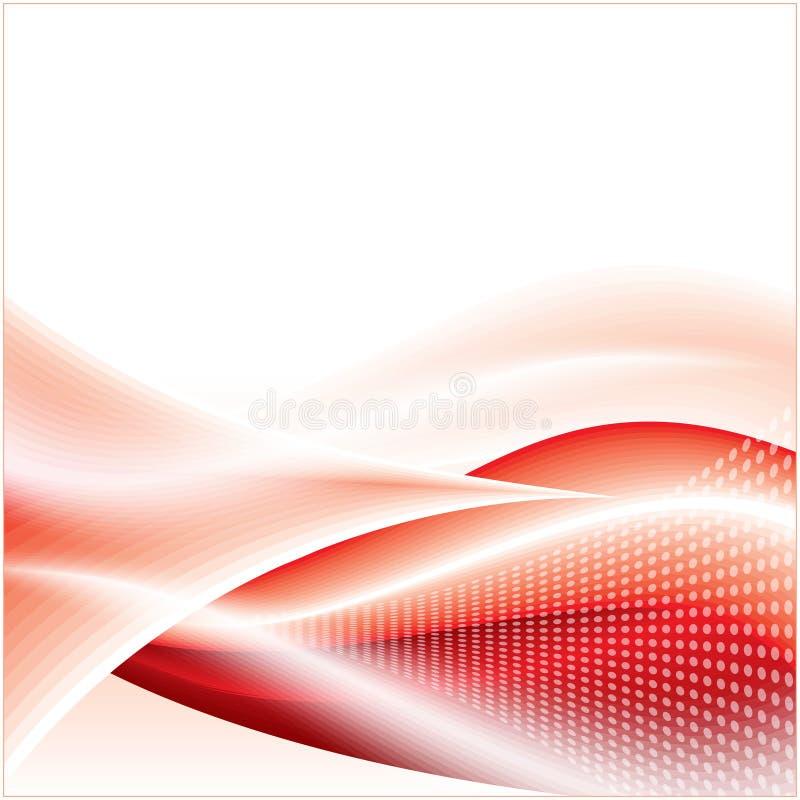 Teknologianslutning med rött färgar vektor illustrationer