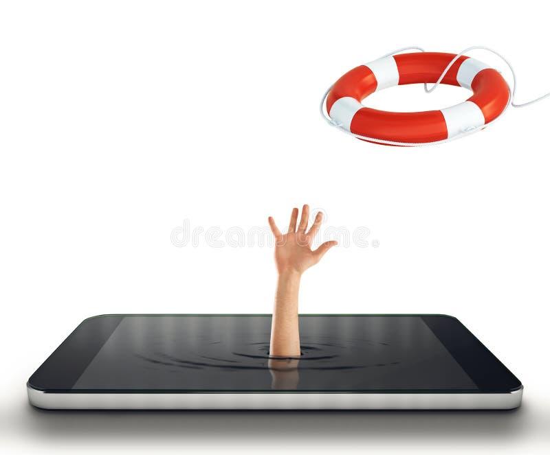 Teknologiböjelsebegrepp framförande 3d arkivfoto