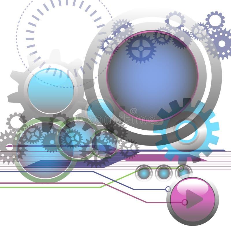 Teknologibakgrund vektor illustrationer