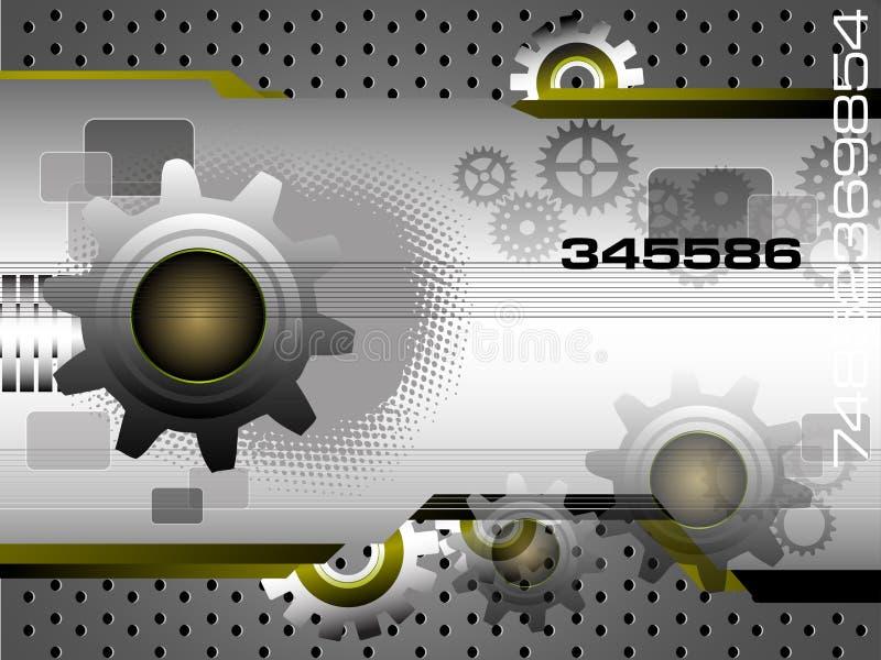 Teknologibakgrund royaltyfri illustrationer