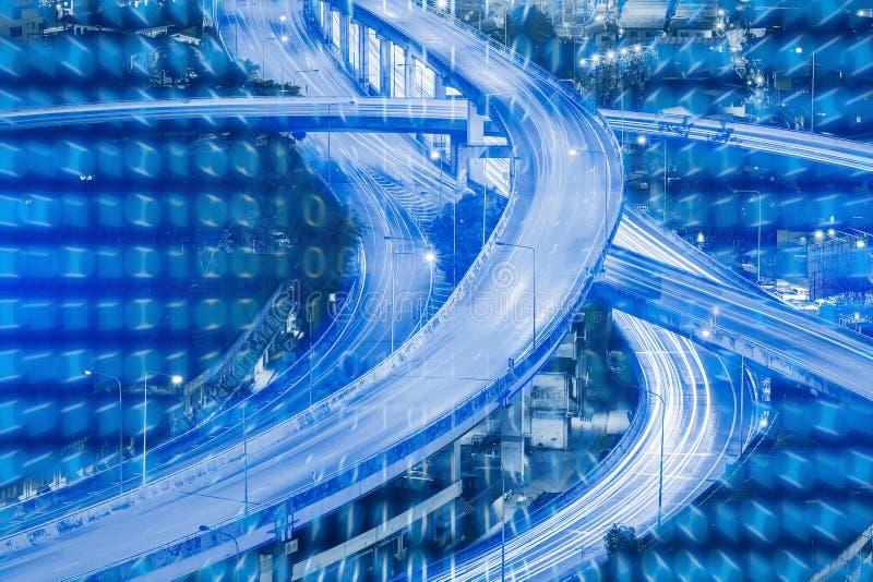 Teknologibakgrund för internet av sakerteknologi royaltyfria bilder