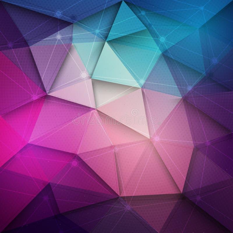 teknologibakgrund för vektor 3d stock illustrationer