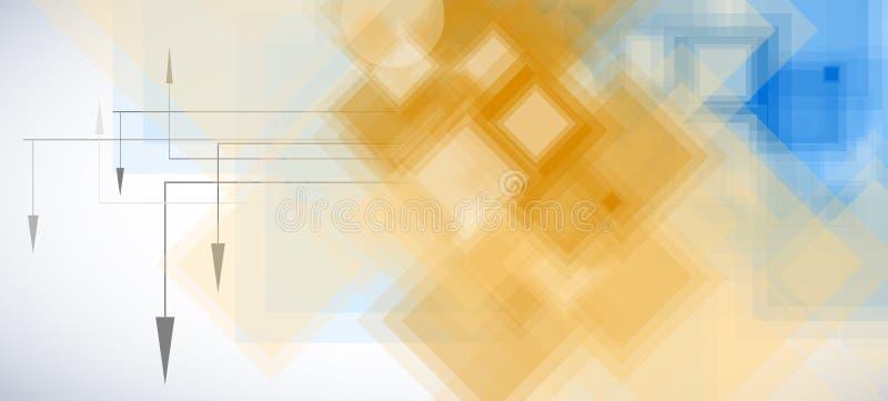 Teknologibakgrund, idé av lösningen för global affär stock illustrationer