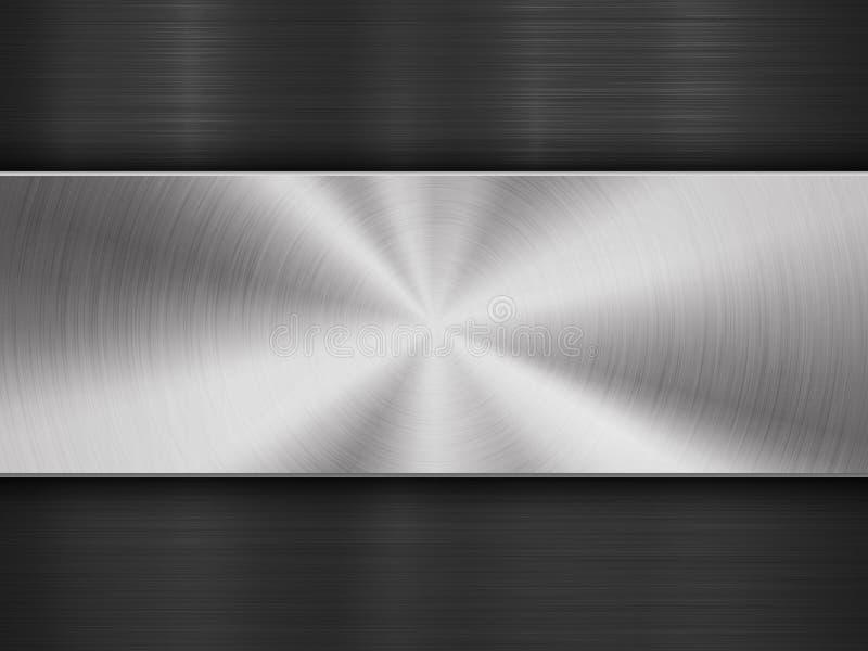 Teknologibakgrund med det texturerade metallcirkuläret som borstas royaltyfri illustrationer