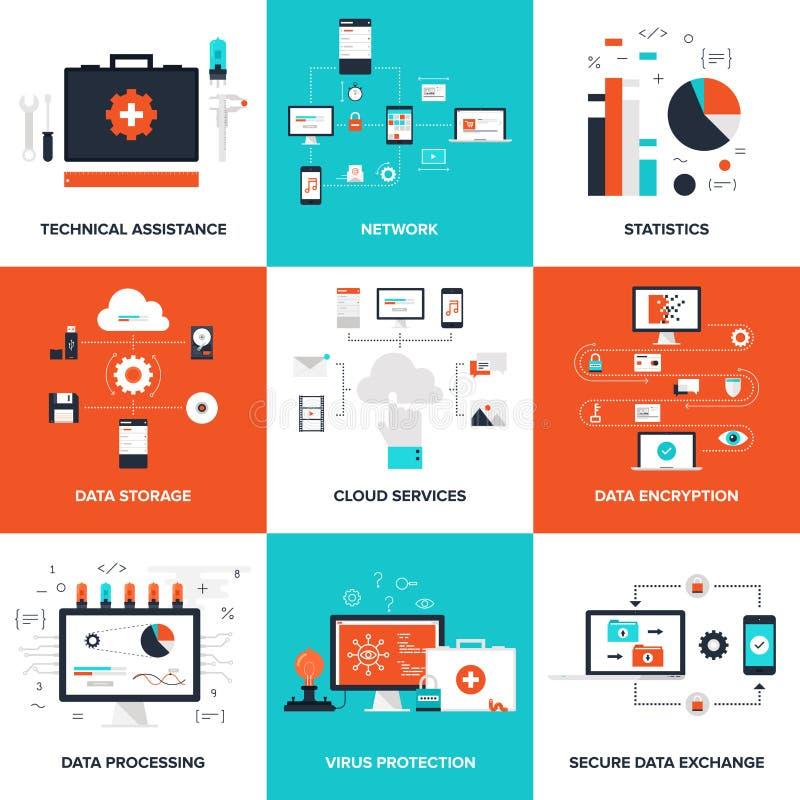Teknologibegrepp stock illustrationer