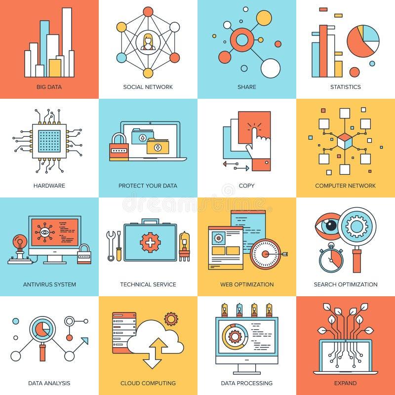 Teknologibegrepp vektor illustrationer