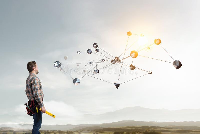Teknologier som förbinder världen Blandat massmedia fotografering för bildbyråer