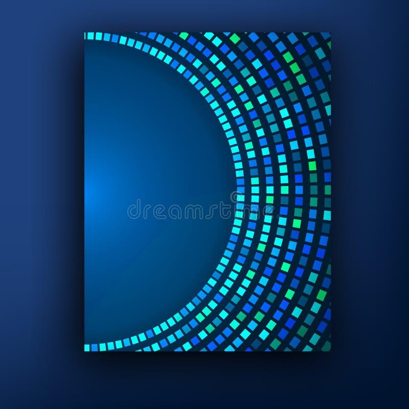 Teknologifärgbakgrund Molekylar, atomer och ljusblixtar Medicin Bioengineering Kommunikation som är social stock illustrationer