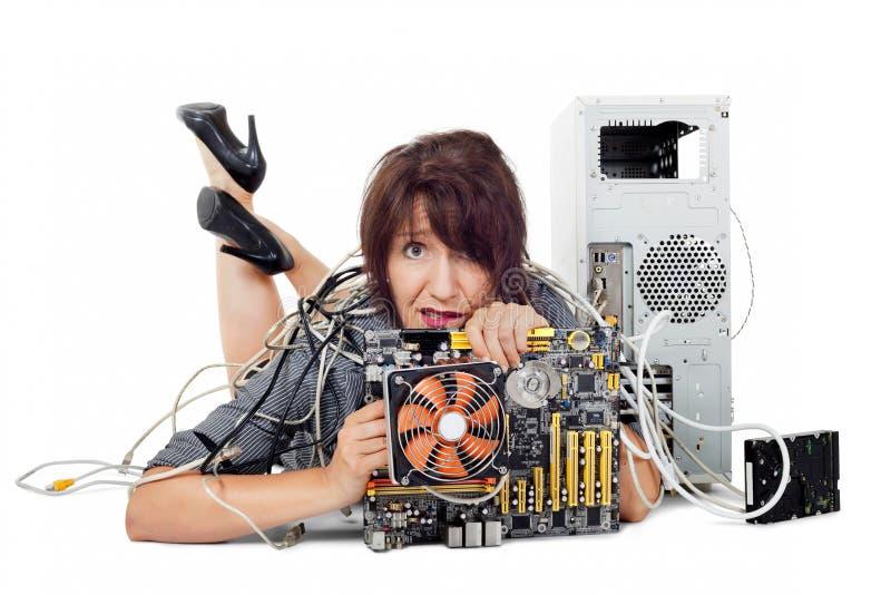 Teknologiförvirring royaltyfri bild