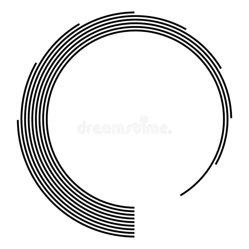 Teknologiform Linjer i abstrakt form Abstrakt geometrisk logo infographic designelement vektor illustrationer