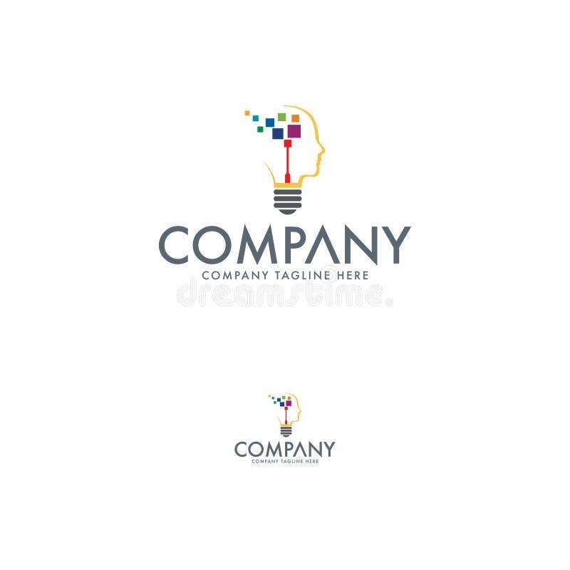 Teknologiidé Logo Design Template stock illustrationer