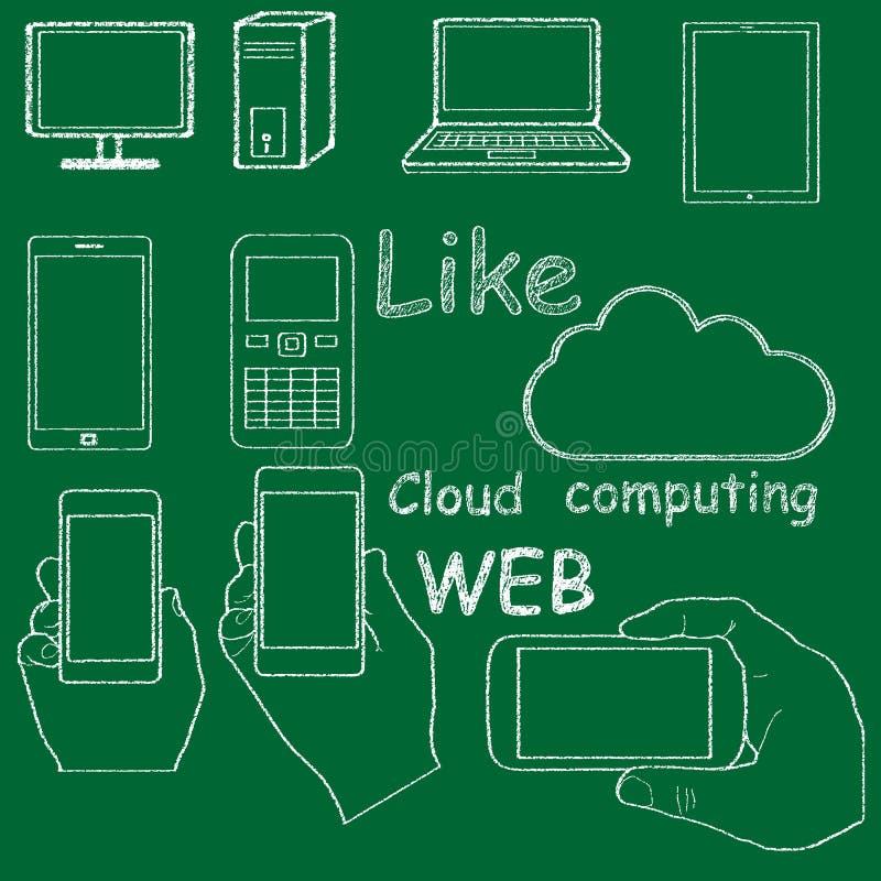 Teknologiklottertextur royaltyfri illustrationer