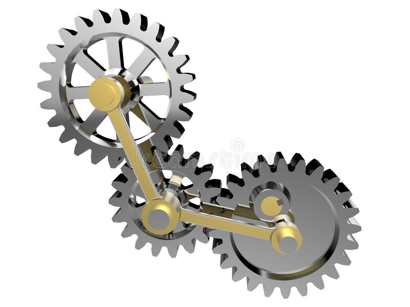 Teknologikugghjul - kuggeillustration vektor illustrationer