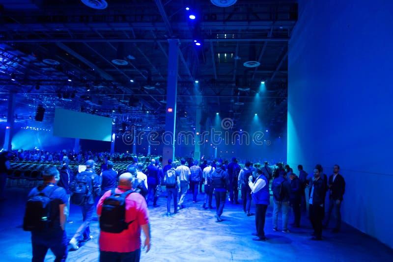 Teknologimötesplatsutställningen ställde in i Las Vegas nevada royaltyfri bild