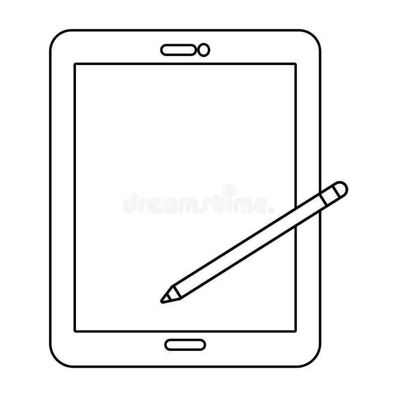Teknologiminnestavlatecknad film stock illustrationer