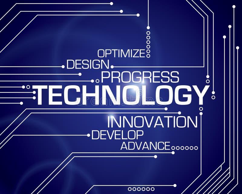 Teknologiordbakgrund royaltyfri illustrationer