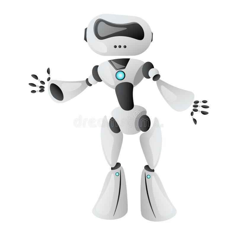 Teknologisk realistisk robot vektor illustrationer