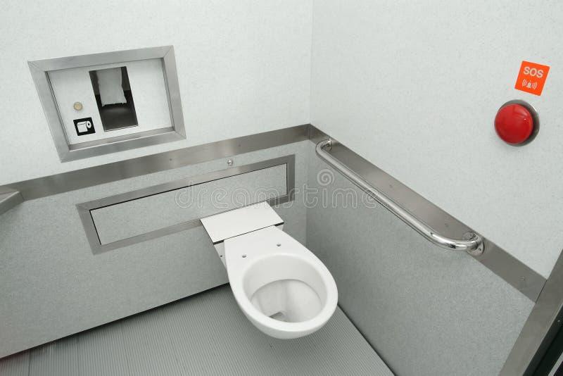 Teknologisk toalett royaltyfria bilder