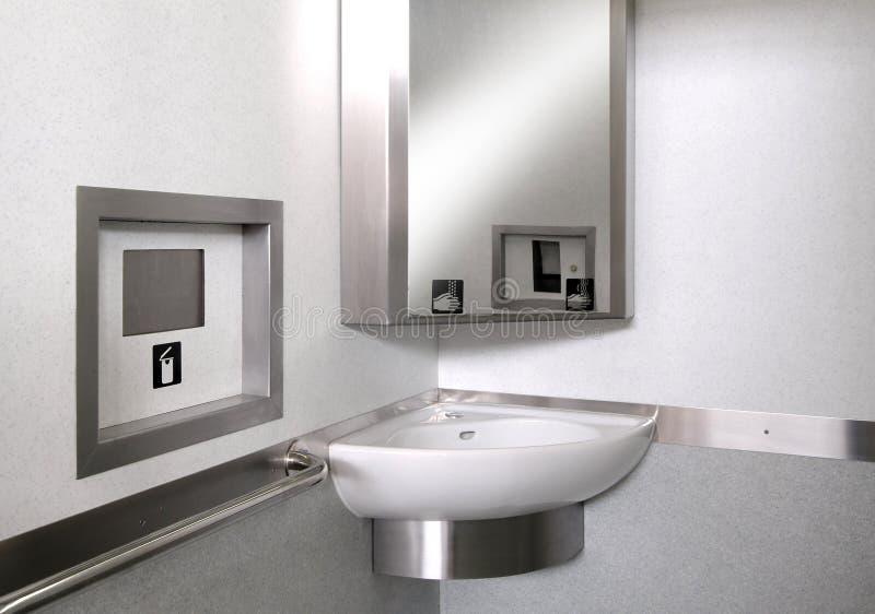 Teknologisk toalett arkivbilder