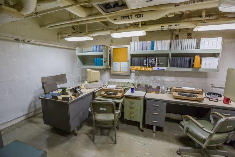 Teknologiskt kontor för slagskepp fotografering för bildbyråer