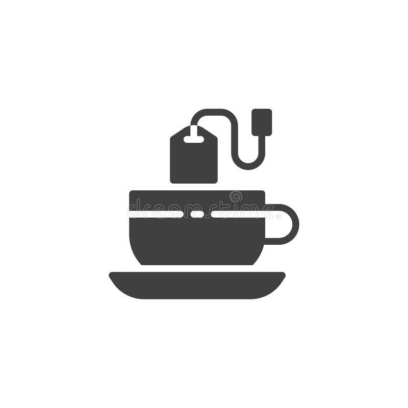 Tekopp med tep?sevektorsymbolen vektor illustrationer