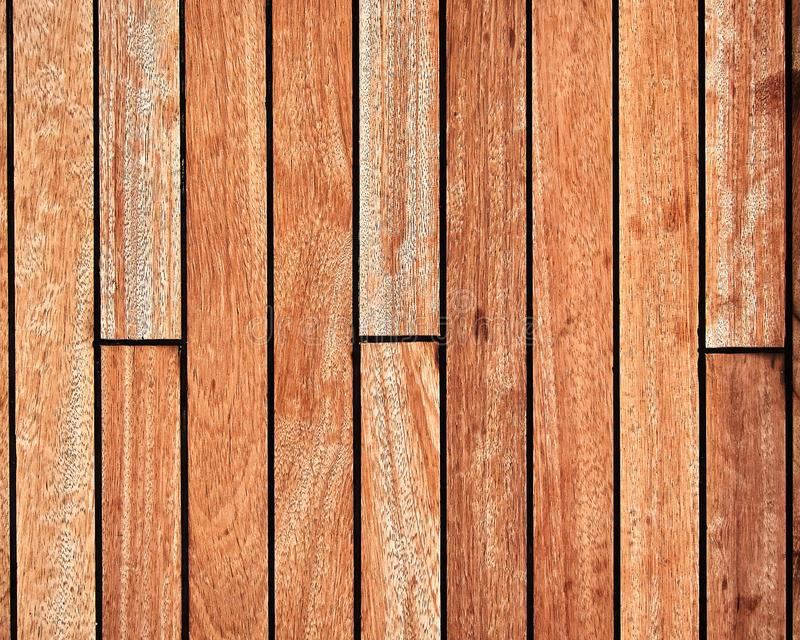 Tekowy drewniany pokład, brown tekstury tło obrazy stock