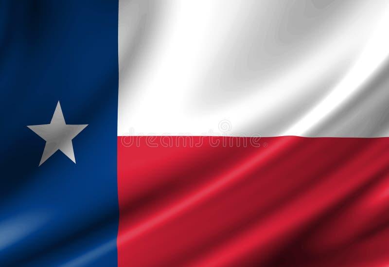 Teksańczyk flaga ilustracji