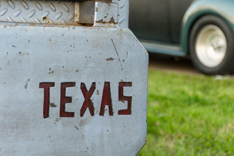 Teksas Ciie out od zderzaka stara szkoła Gorący Rod obraz royalty free