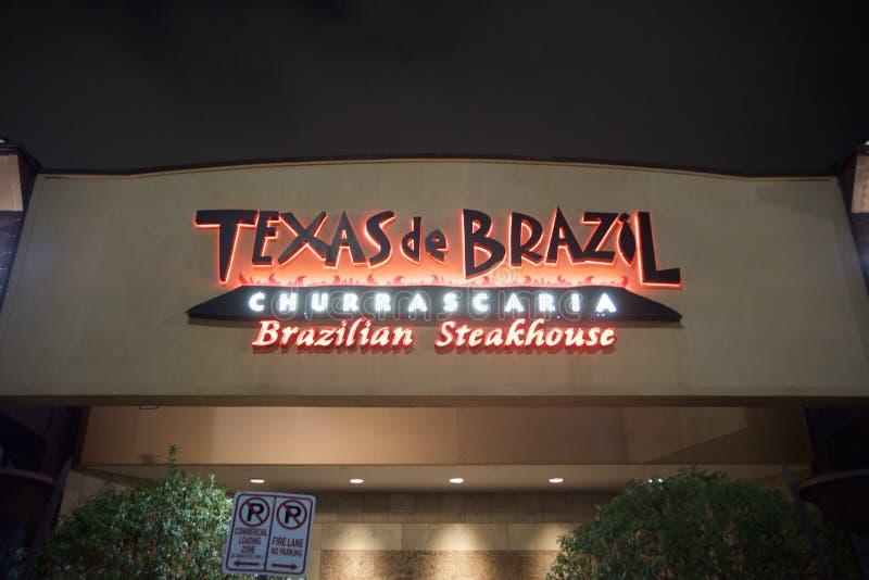 Teksas De Brazylia brazylijczyka steakhouse zdjęcie royalty free