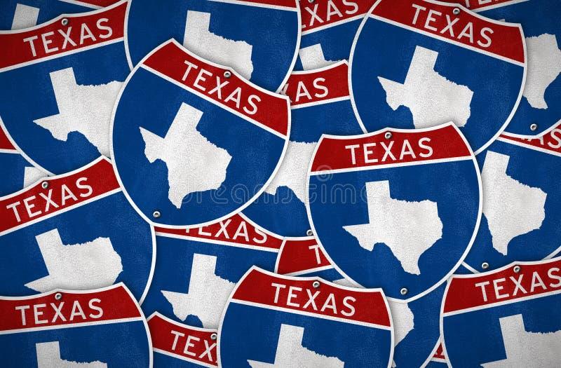 Teksas drogowego znaka mapa ilustracja wektor