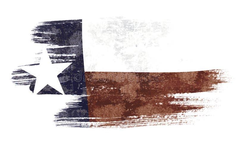 Teksas flaga ilustracja wektor